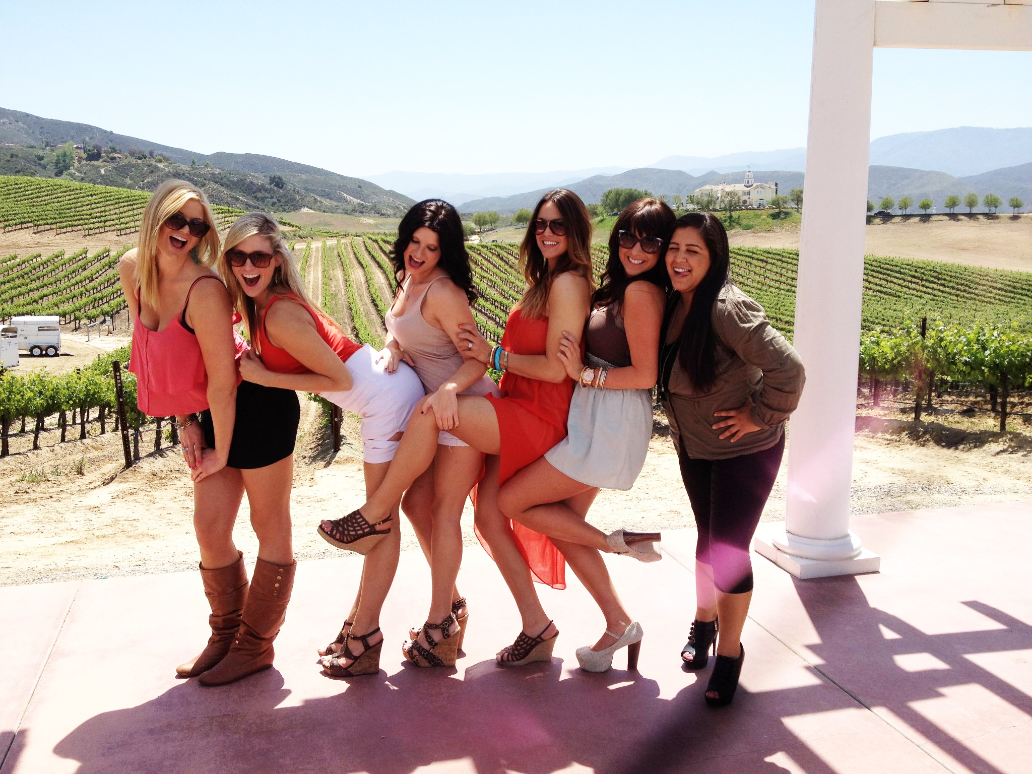Temecula wine tour photo gallery for Bachelorette party places to go