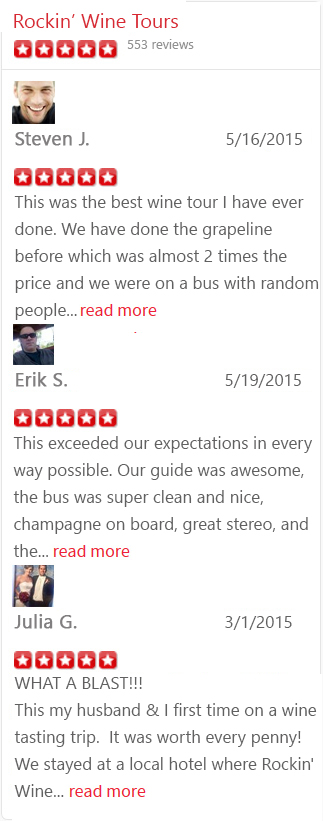 5 Star Yelp Reviews Temecula Wine Tours